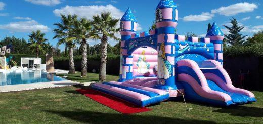 Castillo hinchable Princesas en alquiler